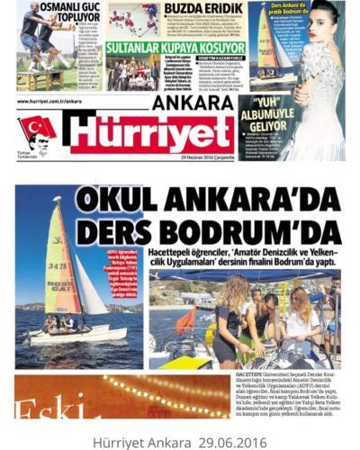 Yelken Kampı Hürriyet Ankara 29.06.2014
