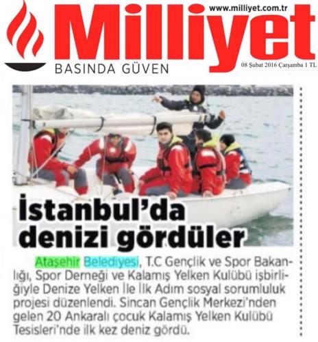 Denize Yelken İle İlk Adım Milliyet Spor 08.02.2016
