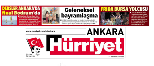 Hürriyet Ankara Sürmanşet 27.06.2017