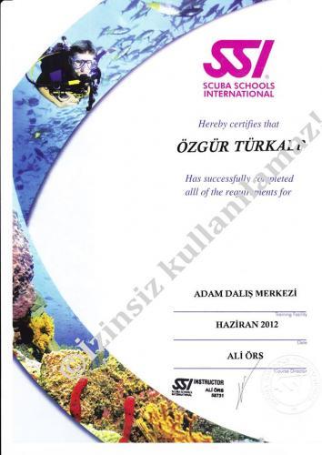 Open Diver Certification(Aletli Dalış Sertifikası)