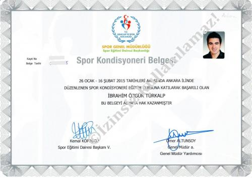Sport Conditioner Certification (Spor Kondisyonerliği Sertifikası)