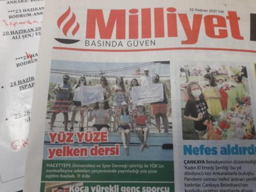 Milliyet Ana Gazete-Yüz yüze Eğitime Dönüş22.06.2021