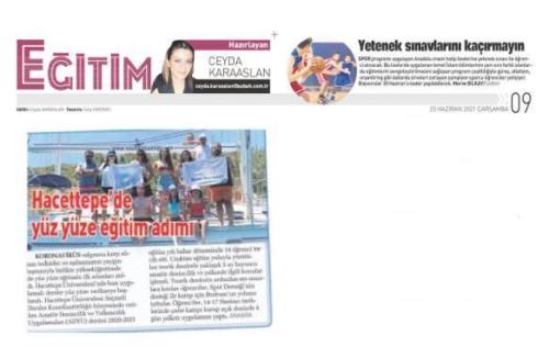 Sabah Ana Gazete-Yüz yüze Eğitime Dönüş29.06.2021