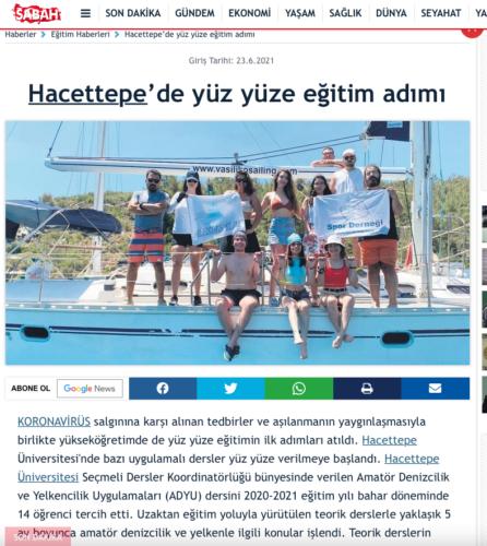 Sabah İnternet sitesi-Yüz yüze Eğitime Dönüş23.06.2021